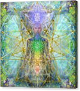 Chakra Tree Anatomy With Mercaba In Chalice Garden Acrylic Print