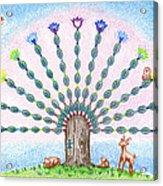 Chakra Tree Acrylic Print