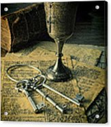 Chalice And Keys Acrylic Print