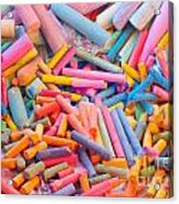Chalk Colors Acrylic Print