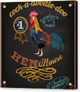 Chalkboard Poster For Chicken Acrylic Print