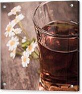 Chamomile Tea Retro Acrylic Print by Jane Rix