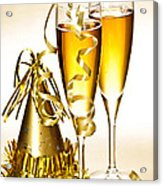 Champagne And New Years Party Decorations Acrylic Print