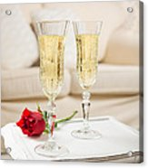 Champagne And Rose Acrylic Print