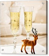 Champagne At Christmas Acrylic Print