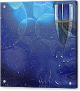 Champagne Blue  Acrylic Print by Liane Wright