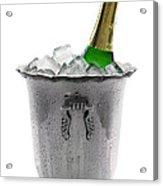 Champagne Bottle On Ice Acrylic Print