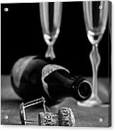 Champagne Bottle Still Life Acrylic Print by Edward Fielding