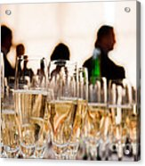 Champagne Glasses At The Party Acrylic Print