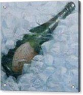 Champagne On Ice Acrylic Print