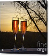 Champagne Sunset Acrylic Print by Kay Pickens