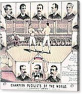 Champion Pugilists 1885 Acrylic Print by Padre Art
