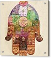 Chamsa Acrylic Print by Michoel Muchnik