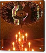Chandelier At The Brown Palace In Denver Acrylic Print