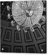Chandelier-black And White Acrylic Print