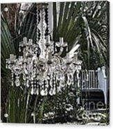 Chandelier In The Garden Acrylic Print