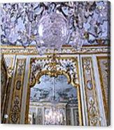 Chandelier Inside Chateau De Chantilly Acrylic Print