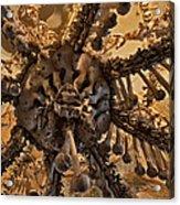 Chandelier Made Of Bones And Skulls. Acrylic Print