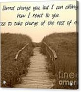 Change Acrylic Print by Lorraine Heath