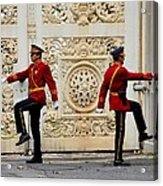 Change Of Guards Ceremony Dolmabahce Istanbul Turkey Acrylic Print