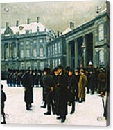 Changing Of The Guard At Amalienborg Palace Acrylic Print