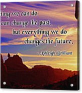 Changing The Future Acrylic Print