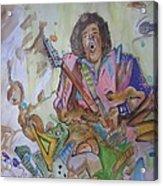 Chaos Acrylic Print by Erik Franco
