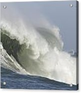 Chaos In The Surf At Mavericks Acrylic Print