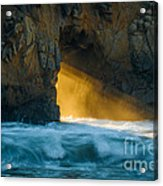 Chaos - Pfeiffer Beach Acrylic Print by George Buxbaum