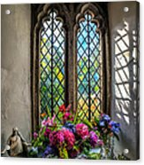 Chapel Flowers Acrylic Print by Adrian Evans