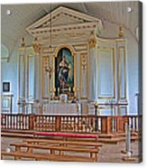 Chapel In King's Bastion In Louisbourg Living History Museum-174 Acrylic Print