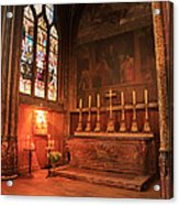 Chapel In St Severin Church Paris Acrylic Print