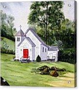 Chapel In The Mounts Acrylic Print