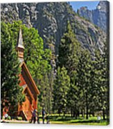 Chapel In The Valley Acrylic Print