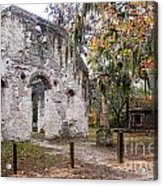 Chapel Of Ease Ruins And Mausoleum St. Helena Island South Car Acrylic Print