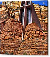 Chapel Of The Holy Cross  Sedona Arizona Acrylic Print