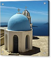 Chapel On Santorini Acrylic Print