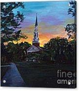 Chapel Sunset Acrylic Print