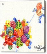 Characters In Balloon Acrylic Print