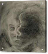 Charcoal Study Acrylic Print