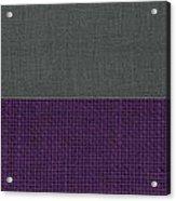 Charcoal With Purple Acrylic Print