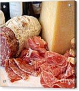 Salami And Cheese Acrylic Print