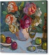 Chardonnay And Roses Acrylic Print