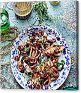 Chargrilled Lemon Oregano Octopus Acrylic Print
