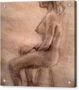 Charity Figure Drawing 3 Acrylic Print