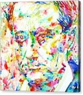 Charles Baudelaire Watercolor Portrait.1 Acrylic Print