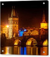Charles Bridge II- Prague Acrylic Print