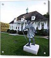 Charles Darwin Statue Cold Spring Harbor New York Acrylic Print