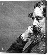 Charles Dickens Acrylic Print