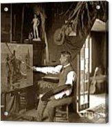 Charles Dickman Artist Monterey California Circa 1907 Acrylic Print